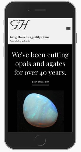 custom ecommerce website - mobile view