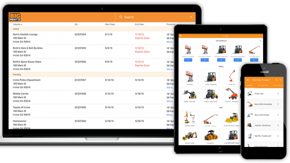 React single page web applications